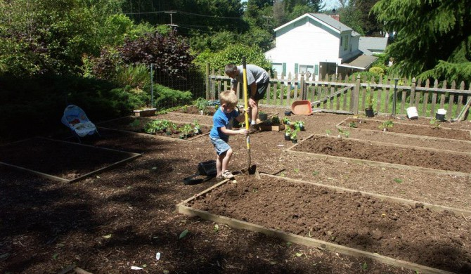 Gardening is part of our family